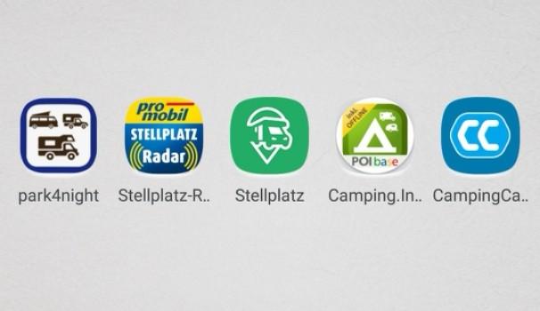 Stellplatz Apps für Wohnmobil-Fahrer