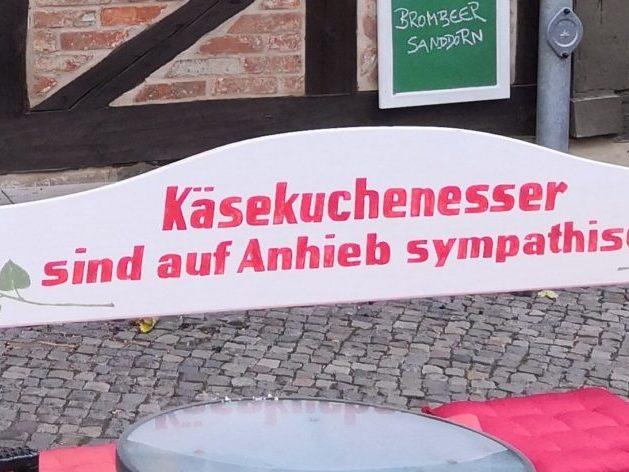 In Quedlinburg gibt es ein Käsekuchen-Café