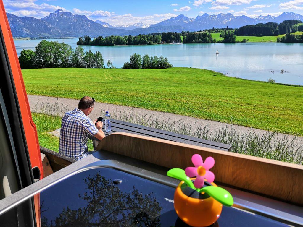 Bayerische Seen - Ausblick auf den Forggensee