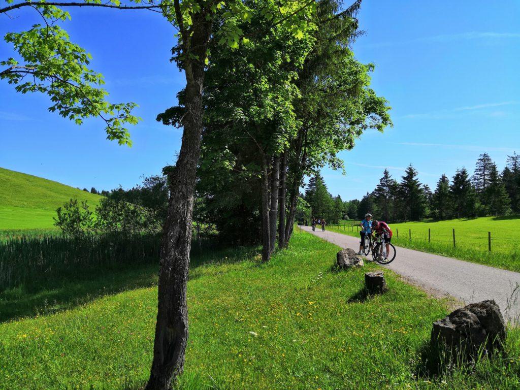 Fahrradtour um den Forggensee