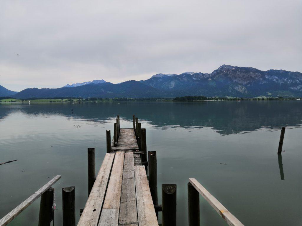 Bayerische Seen - Steg am Forggensee