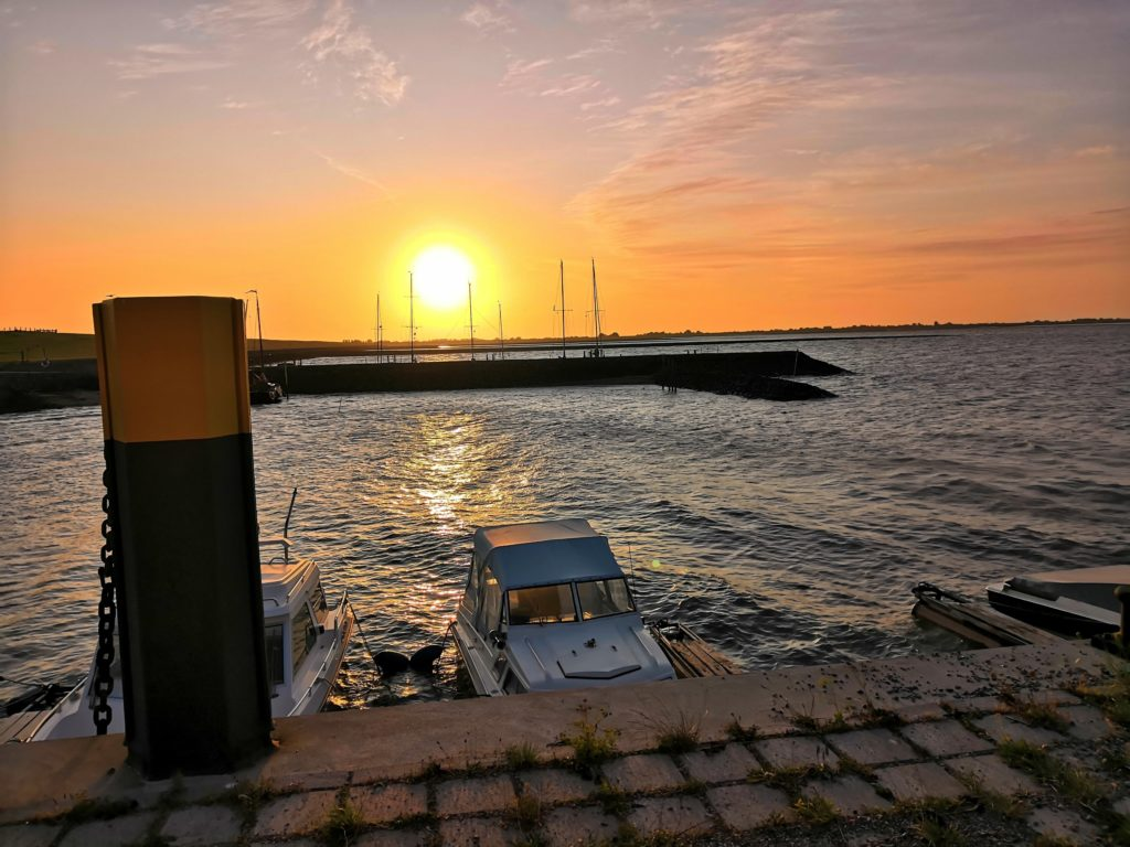 Sonnenaufgang am Hafen Eckwarder