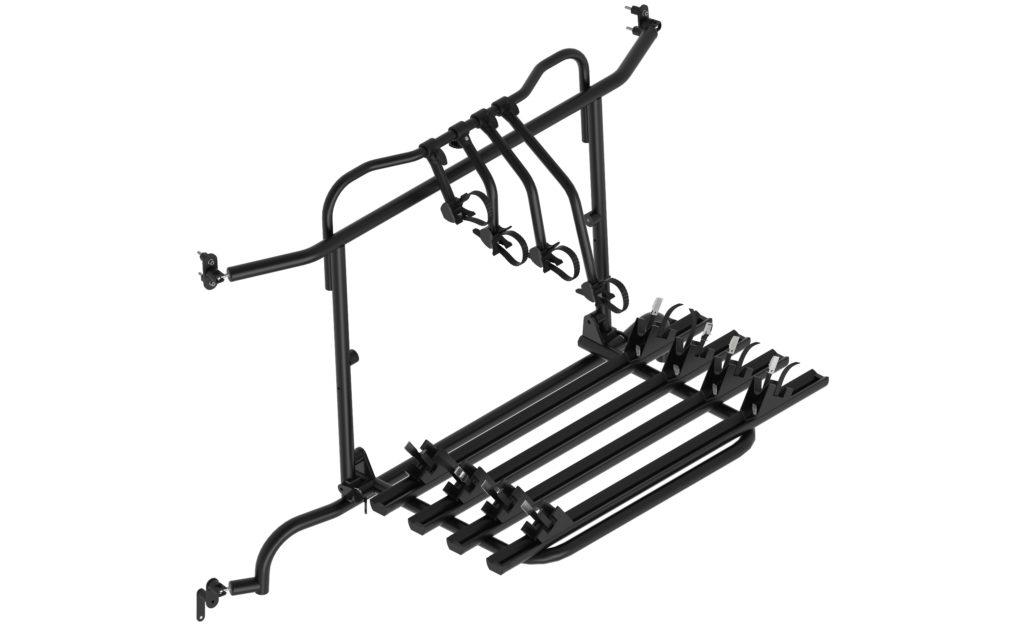 schwenkbarer Fahrradträger für Kastenwagen