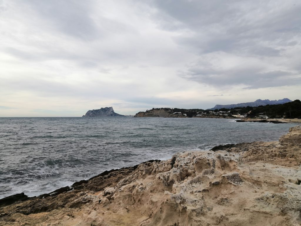 Moraira, Blick in Richtung Calpe